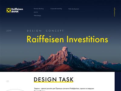 Raiffeisen financial landing typography finance business ux ui concept