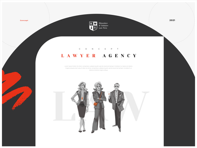 Concept for the Law agency typography art logo design character ui concept illustration