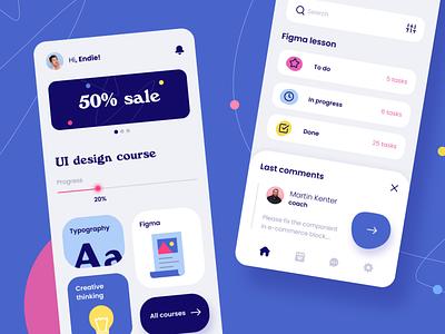 Educational App Concept fireart app art illustration typography ux ui concept