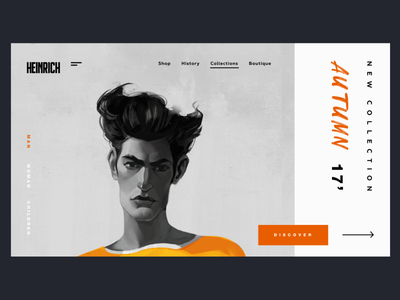 Cloth Shop - Concept Illustration Design e-comerce design character interface promo typography websites website web ux ui concept illustration