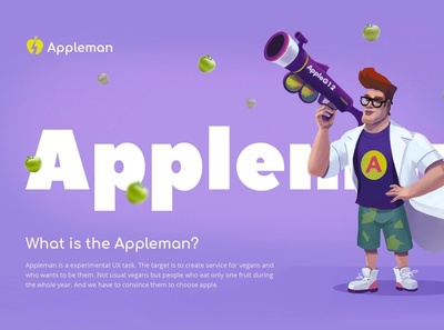 Appleman art ui concept character illustration