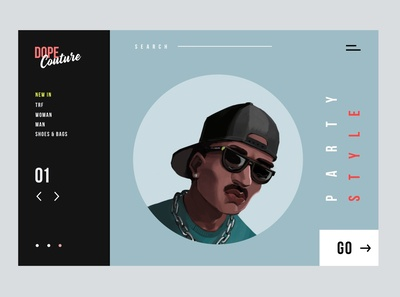 Dope Couture - Concept Illustration Design II design typography ui character art concept illustration