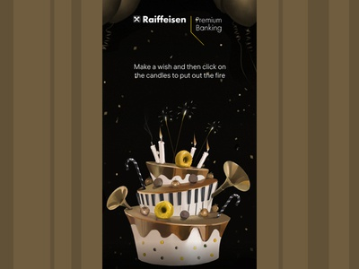 promo art for premium banking cake art concept illustration
