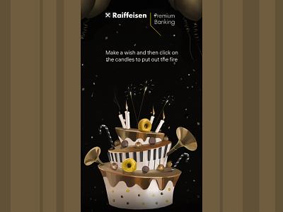 promo art for premium banking cake art concept illustration