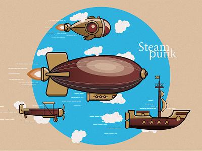 Steam Punk web adobe illustrator flat design ui illustration