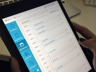Clinical Dashboard Preview dashboard preview ipad responsive web app app user interface medical health ui ux timeline data
