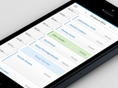 Clinical Dashboard - Appointments (Mobile)