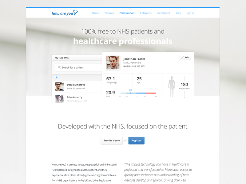 Product Site 01 design healthcare medical features product
