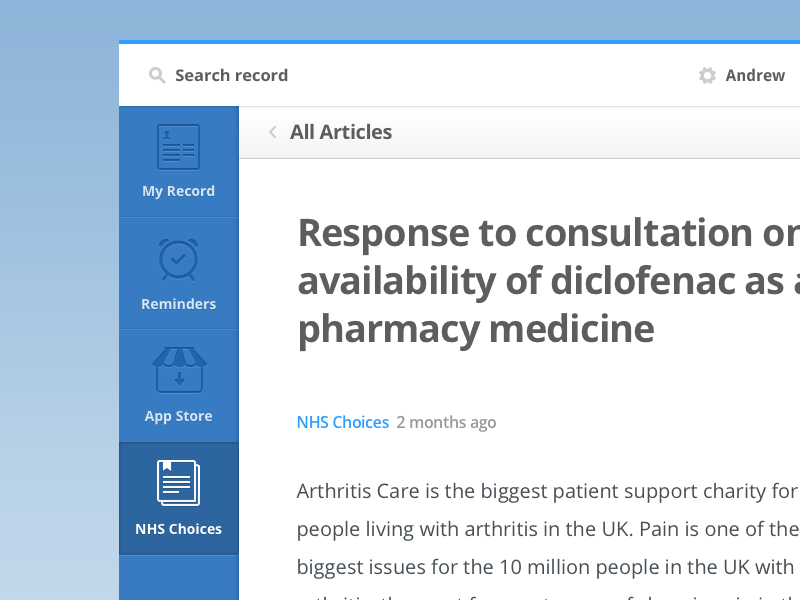 Article article type webapp health medical navigation icons