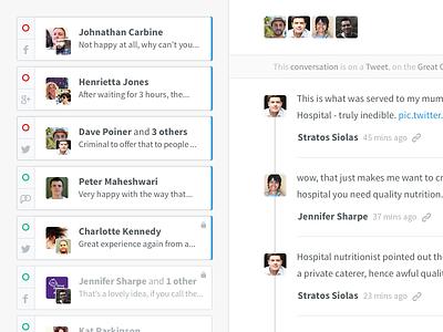 Conversations thread conversations social chat interface uifaces.com