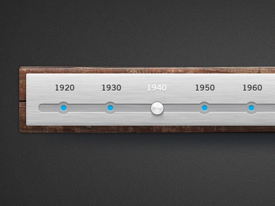 Wood and brushed metal timeline free psd