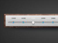 Wood & Brushed Metal Timeline - FREE PSD