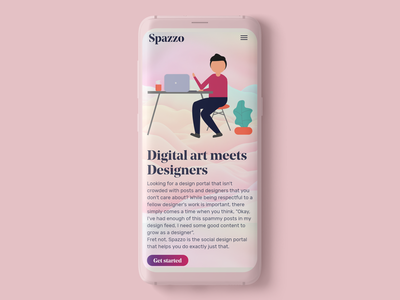 Samsung s9 mockup for Spazzo mock up webdesign uitrends uiux uidesign