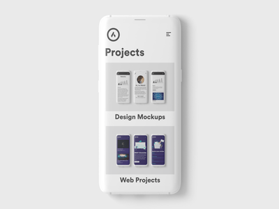"""Projects"" page website flat ux ui logo branding uitrends uiux webdesign mock up uidesign"