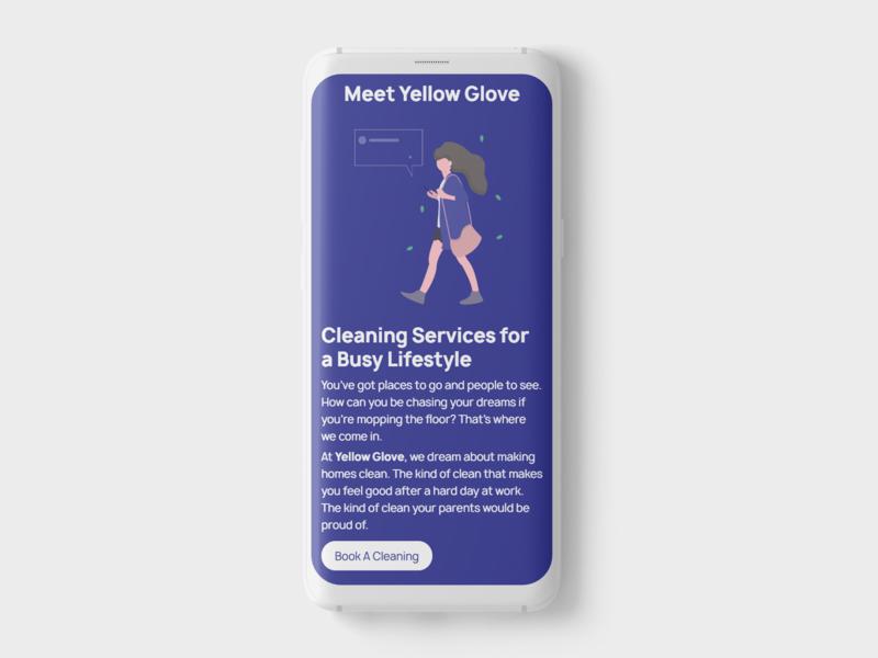 Meet Yellow Glove illustration website design branding uiux uitrends ui uidesign mock up webdesign