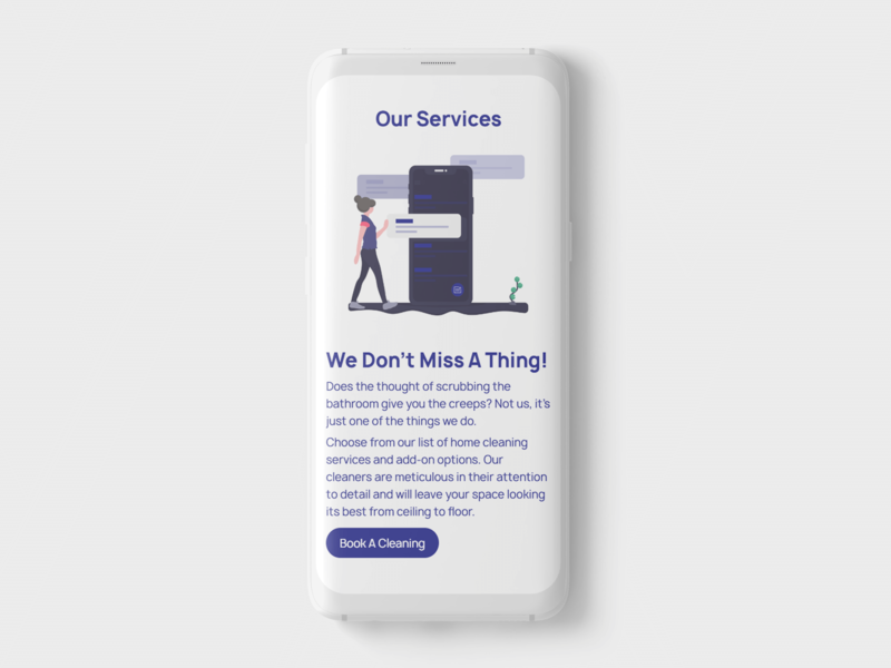 Yellow Glove | Home cleaning services website uiux design web illustration branding ui uidesign mock up webdesign