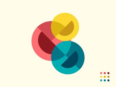 Content Emoji color pallete smiley smile emoji vector flat branding illustration