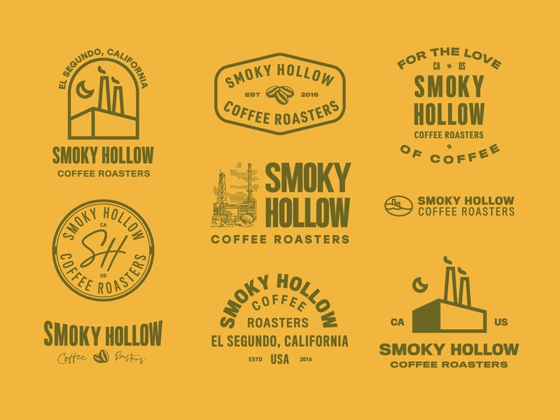 Smoky Hollow typography packagedesign artdirection logotypedesign logo vintage illustration design branding