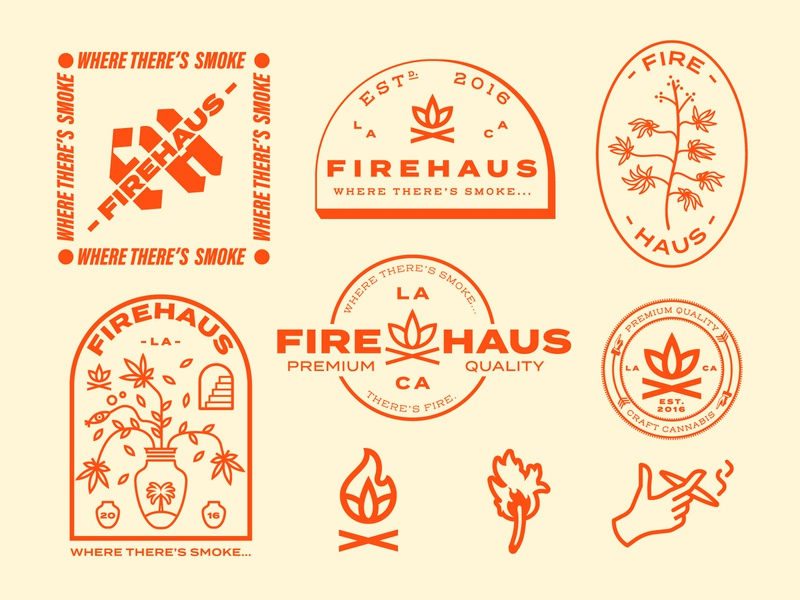 Firehaus Design Exploration icons graphic vector logotypedesign packagedesign graphicdesign typography logo vintage flat design branding illustration