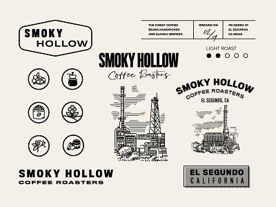 Design for Smoky Hollow in El Segundo, California vintage lettering uidesign icon logo packagedesign art artdirection graphicdesign flat branding illustration