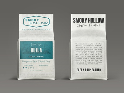 Smoky Hollow Coffee Roasters typography illustration packagingdirection vintage packagingdesign packaging graphicdesign artdirection coffee bags design branding design branding