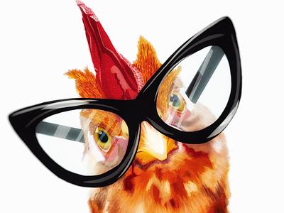 Cheeky Chicken bird hen chicken adobefresco drawing digital art illustration design olbap design vector olbapdesign olbap