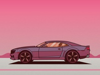 Camaro Illustration WIP