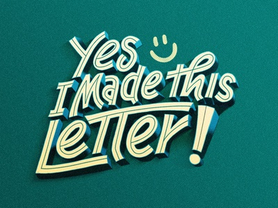 Yes, i made this letter. handmadeletter color vector typography art tipo-tuani illustration design