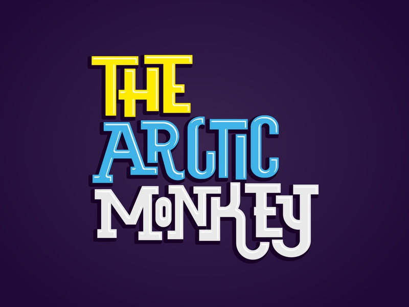 The Arctic Monkey - Lettering monkey parody rock arcticmonkeys letter interlock lettering vector typography art tipo-tuani illustration design