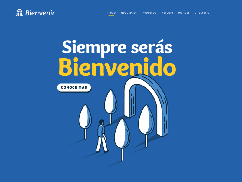 Bienvenir - Web ui design vector brand typography tipo-tuani illustration