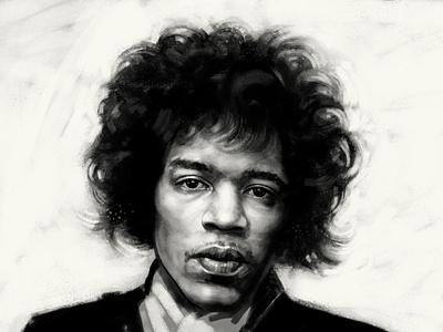 Jimi Hendrix portrait illustration portrait portrait art digitalpainting