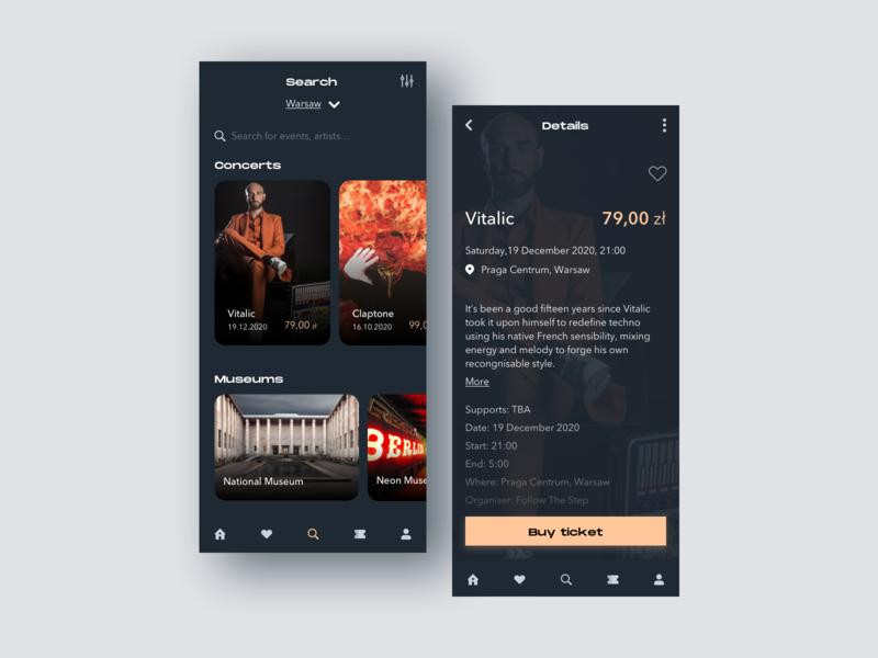 Going App redesign product design mobile ui mobile minimalism concept design events app concert redesign concept uidesign ui deisgn ui design