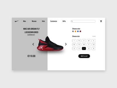 Nike Jordan e-commerce