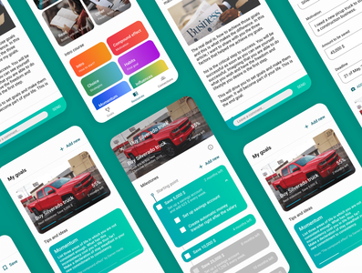 the Achiever app design userexperience userinterface ios app clean simple ux ui minimal design