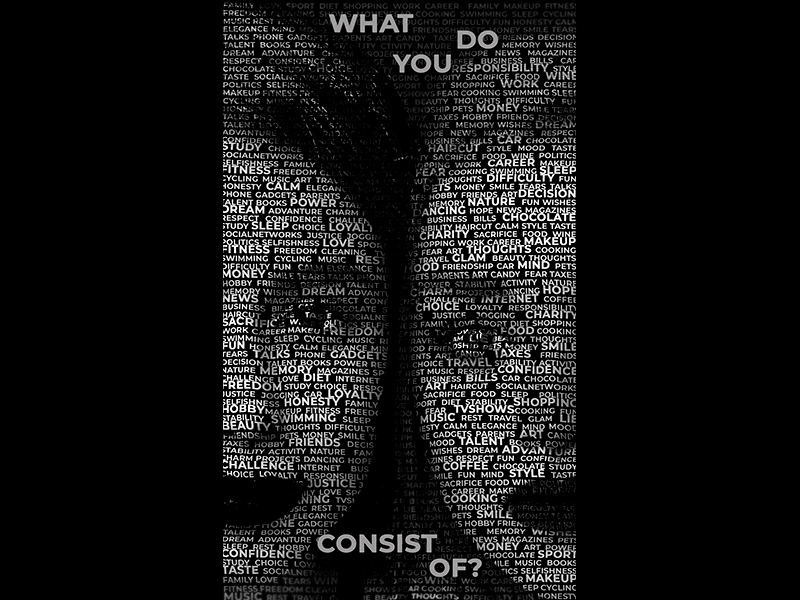 What do you consist of? psd typogaphy font face fontface photomanipulation photoshop design digital
