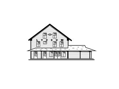 Lyceum Illustration new hampshire travel guide house simple minimal illustration
