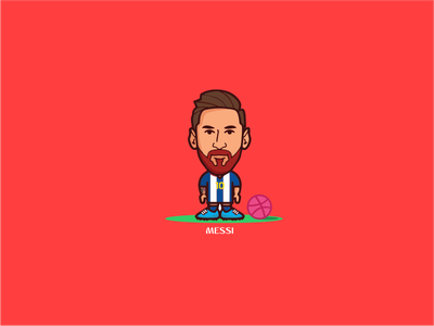 Messi russia dribbble soccer futbol worldcup messi vector logo illustration draw