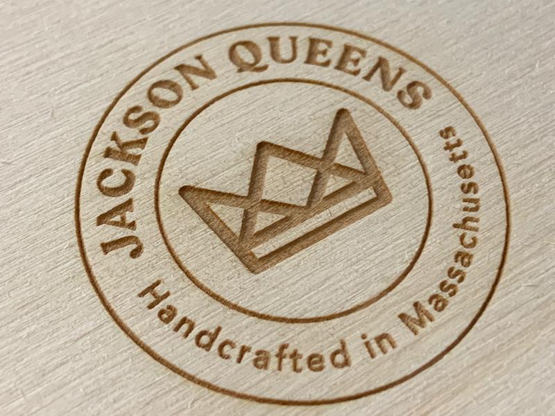 JQ logo royalty king brand branding concept logotype logodesign branding wood laser laser engraved logo design logo