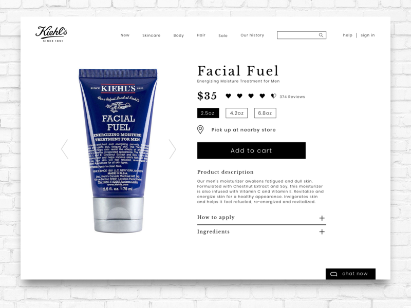 Kiehls - product page