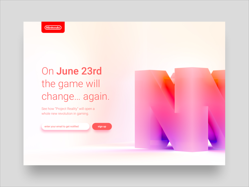 Nintendo 64 Launch page