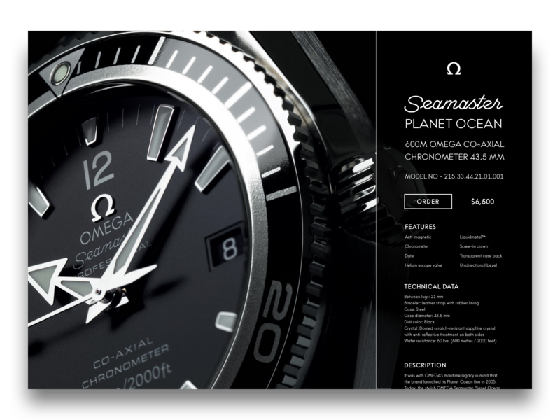 Omega Product page