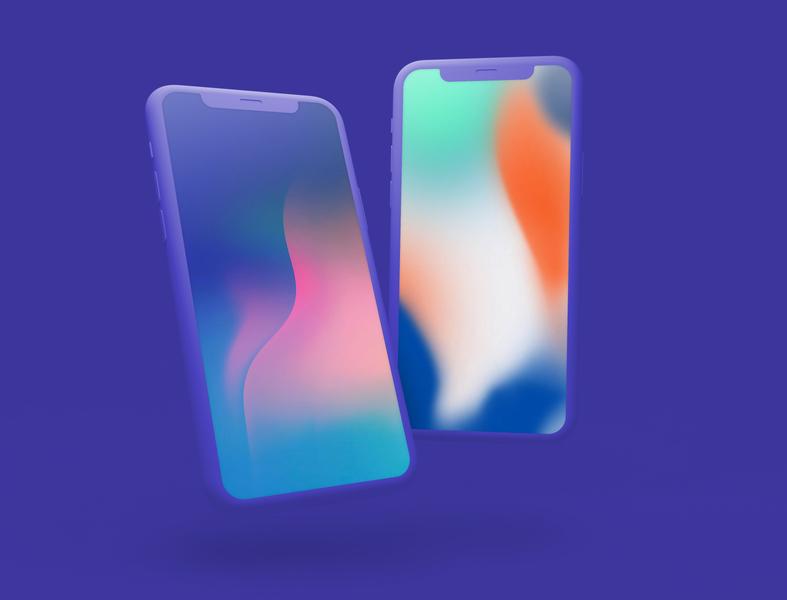 Free Dual Vertical Mockup mobile app design mockup ui