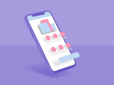 Free Exploded Mockup dribbble dark application flat app 3d freebie free ux mobile ui clean design ios iphone mock-up mockups exploded exploded view