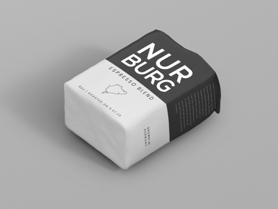 Nurburg coffee packaging black  white black minimal branding brand logo cafe espresso auto beans bean coffee bean coffee packaging design package design package design