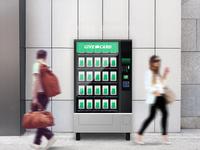 Give Card Vending Machine illustration branding clean design ux ui hackathon mockup mockups mock-up photoshop vendingmachine
