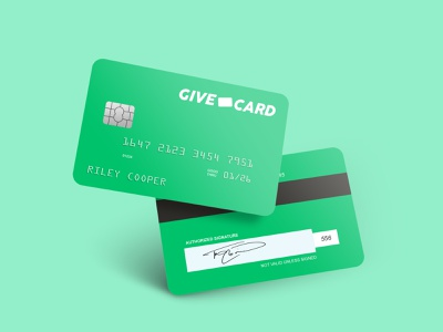 Give Card Debit Card Mockup logo branding clean design fintech finance debit card credit card creditcard photoshop mockups mockup