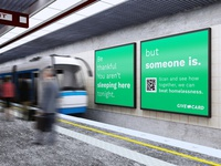 Give Card Subway Ad advertising poster subway branding clean design graphic design graphicdesign graphic photoshop mockups mockup