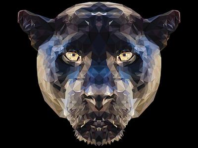 Low Poly Leopard lowpoly leopard illustrator wallpaper poster