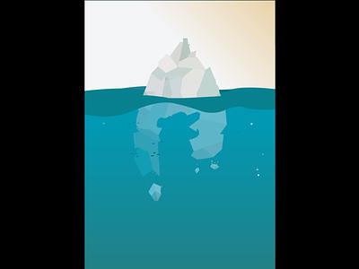 Nagtive Space polarbear nagtivespace design illustrator