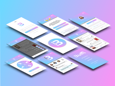 Buffl Redesign illustrator fotoshop design surveys app ux buffl